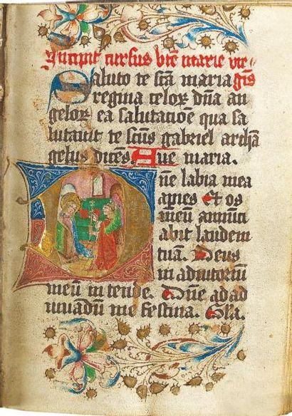 Heures de la Bienheureuse Vierge Marie, écrites...