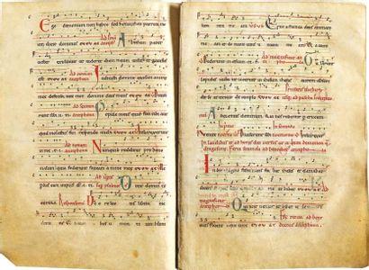 Antiphonaire cistercien à grandes lettrines...