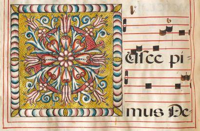 Antiphonaire enluminé des frères mineurs de Calatayud Espagne, 1704 Saintes messes,...