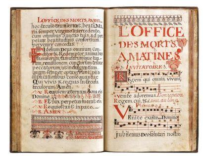 Psautier antiphonaire de Champlitte Comté...