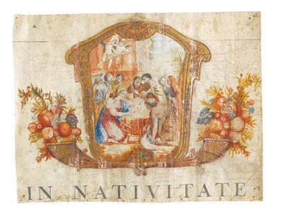 Enluminure de la Nativité du Seigneur France,...