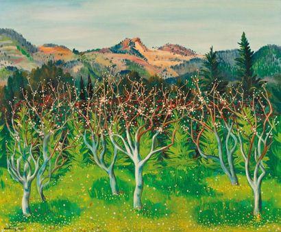 Moise Kisling 1891-1953 Paysage de Sanary, 1951 Huile sur toile 60 x 73cm (23.40...