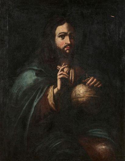 Ecole ESPAGNOLE du XVIIème siècle Le Christ...