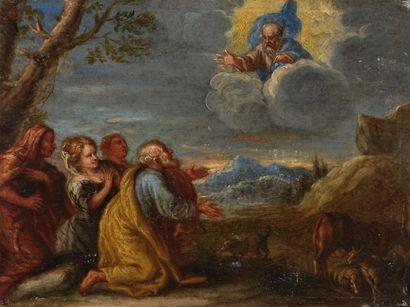 Ecole ITALIENNE vers 1640 L'Apparition du...