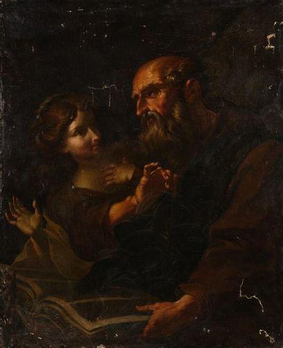 Ecole NAPOLITAINE du XVIIème siècle La tentation...