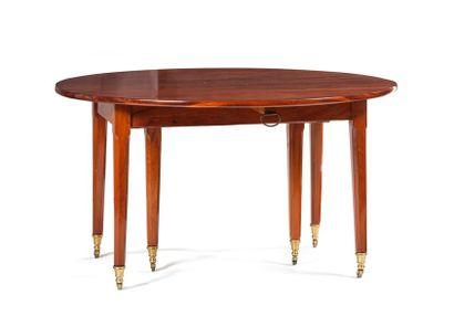 Table de salle à manger en acajou à deux...