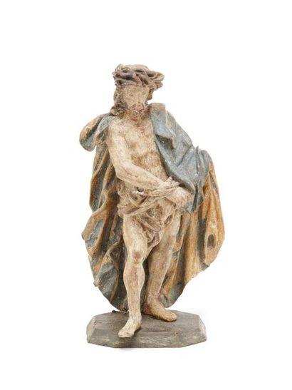 Christ aux liens Statuette en bois polychrome...