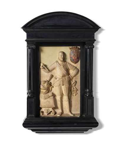 Bas(relief en terre cuite ornée d'une représentation...