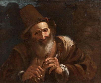 ITALIAN school of the XVIIth century, follower of Giovanni SERODINE The flageolet...