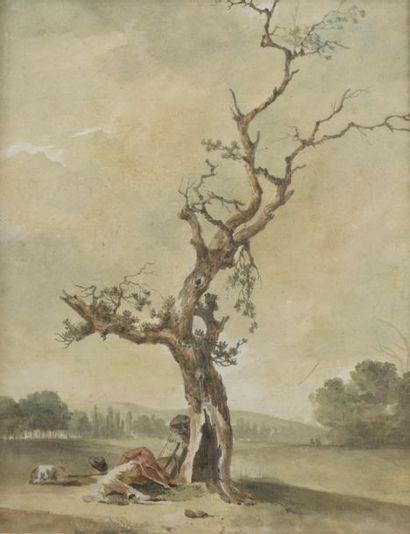 Ecole FRANCAISE du XVIIIème siècle Chasseur...