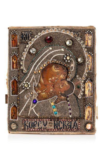 Icône de la Mère de Dieu de Korsun. Tempera...