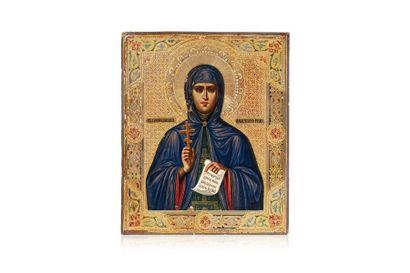 Rare icône de Sainte Anastasia de Rome. Tempera...