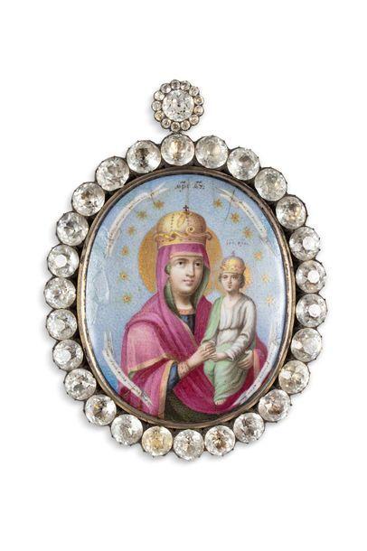 Panagia figurant la Mère de Dieu dite «Caution...