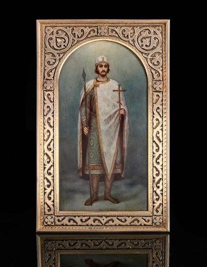 Rare icône du Saint Prince Boris par MOROZOV....