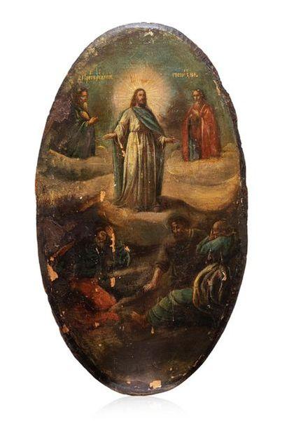 Icône de la Transfiguration du Christ. Tempera...