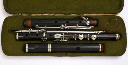 Flute viennoise Anonyme En bois d'ébène....