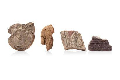 Fragment d'antéfixe représentant une tête...