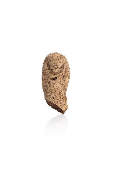 Thumb of right foot ex-voto. Beige terracotta with black degreaser. Etruscan art,...