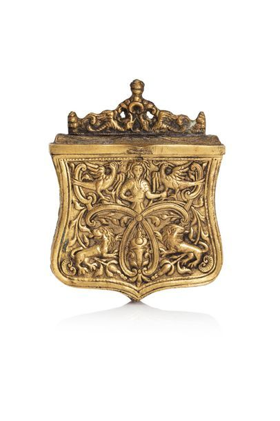 Cartouchière Grèce, vers 1850 En métal doré...
