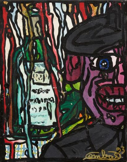 Robert COMBAS (born in 1957) Portrait, 1993...