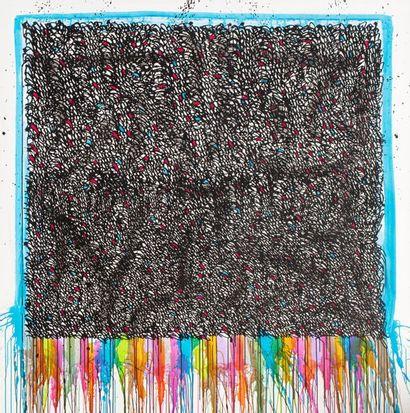 JONONE (né en 1963) Judgement day, 2012 Acrylique sur toile signée, datée et titrée...