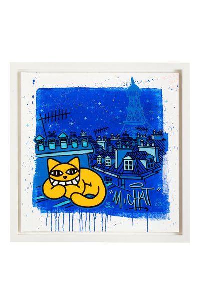MR Chat (né en 1977) Sans titre, 2015 Acrylique sur toile marouflée sur toile, signée...