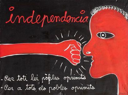 BEN (born 1935) Independencia, 1986 Acrylic...