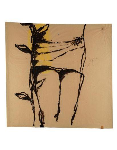 Jean-Charles BLAIS (né en 1956) Sans titre, 1989 Acrylique sur papier signé en bas...