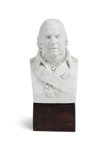 Louis XVIII. Buste en biscuit représentant...