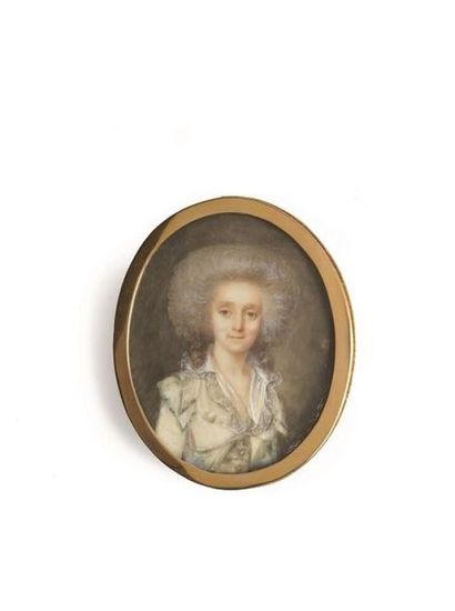 PÉRIN-SALBREUX LOUIS-LIÉ (1753-1817). Portrait...