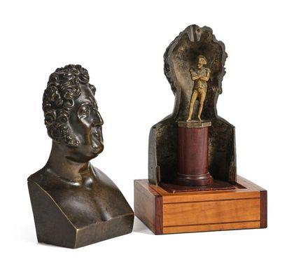 Retour des Cendres. Rare buste séditieux figurant le roi Louis-Philippe d'après...