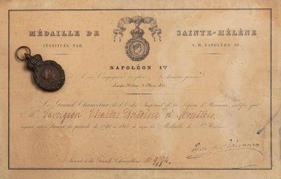 Médaille de Sainte-Hélène en bronze avec...