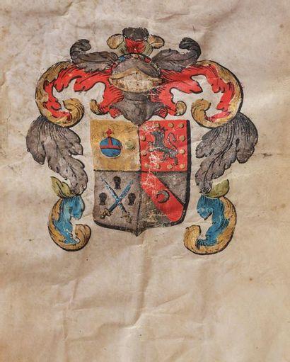 Lettres de noblesse en faveur d'Henry Demais (?), seigneur de Massal (ou Massalis),...