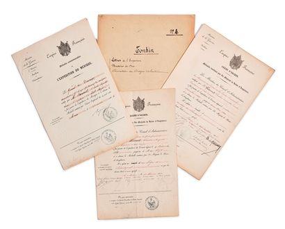Lot de 3 certificats expéditionnaires adressés...