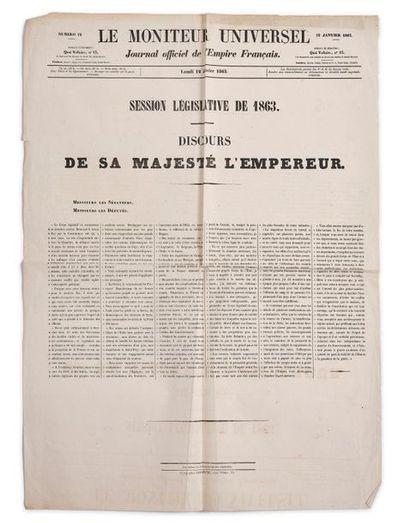 Napoléon III, empereur des Français. Discours de Sa Majesté l'Empereur lors de la...