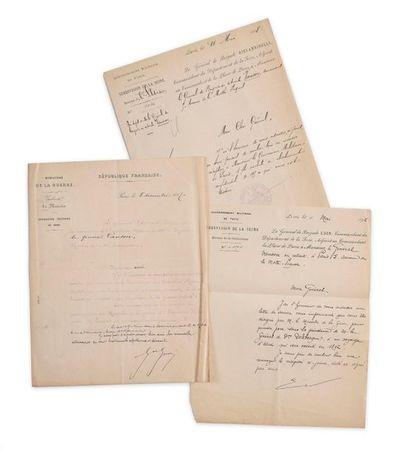 Général Vanson (1825-1900). Lettre manuscrite...
