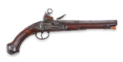 Pistolet espagnol, à silex, de Madrid. Canon...