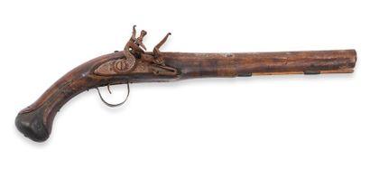 Pistolet, à silex, pour l'Orient. Canon rond,...