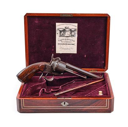 Revolver Lefaucheux, à broche. 6 coups, calibre...