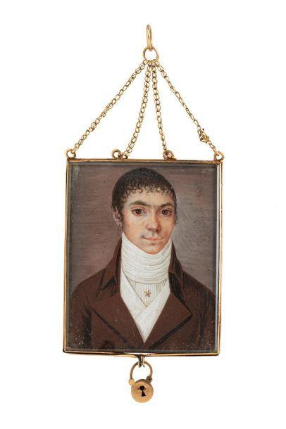 École française ou étrangère vers 1800. Portrait...