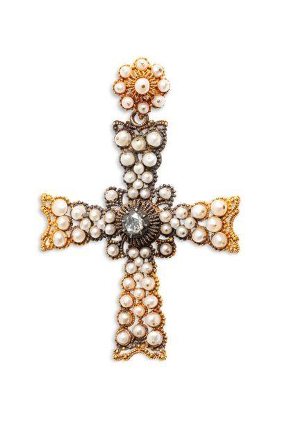 Croix latine pendentif en or 750 millièmes...