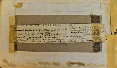 Rare et unique fragment de la coiffe du général Bonaparte utilisé à la bataille...