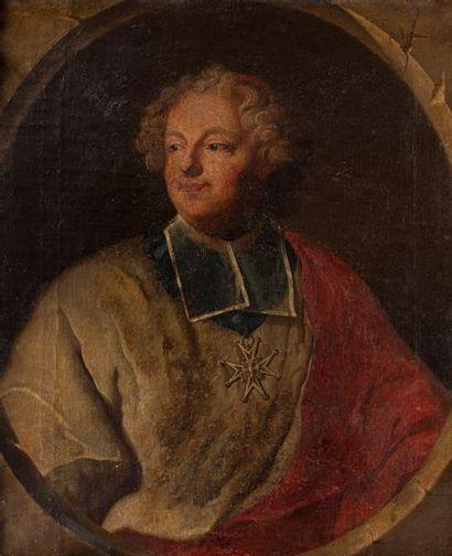 Hyacinthe RIGAUD (1659-1743), d'après. Portrait d'Armand Gaston Maximilien de Rohan-Soubise...