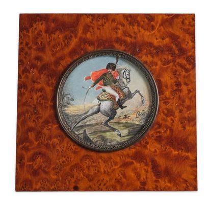 GÉRICAULT Théodore (1791-1824), d'après. Officier de chasseurs à cheval de la Garde...
