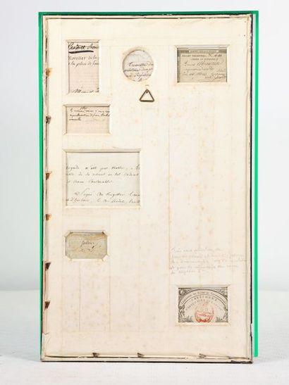 Cérémonie du sacre de l'empereur Napoléon Ier. Rare collection de billets, bons...