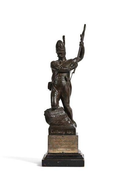 Colberg, 1807. Statuette en régule offerte...