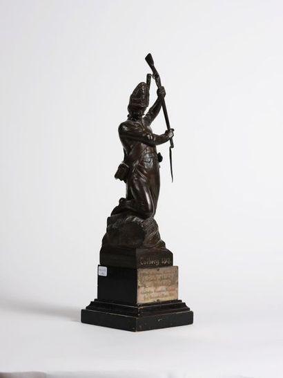 Colberg, 1807. Statuette en régule offerte par les officiers du 9e Régiment de grenadiers...
