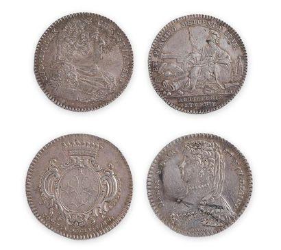 Lot de 4 pièces en argent d'époque Louis...