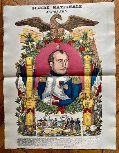Napoléon par l'Imagerie Populaire. Portraits, Sce?nes, Batailles n°2. Ensemble de...