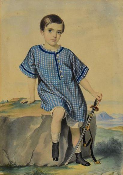 École française du XIXe siècle. Portrait...